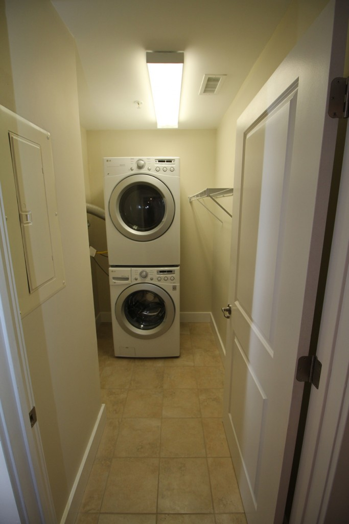In-suite Full SIze Washer and Dryer